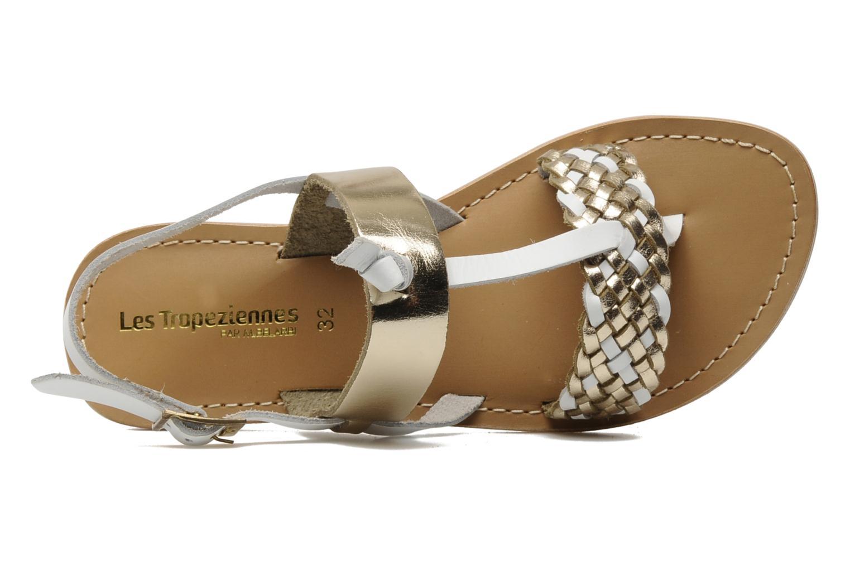 Sandales et nu-pieds Les Tropéziennes par M Belarbi Wallis E Or et bronze vue gauche