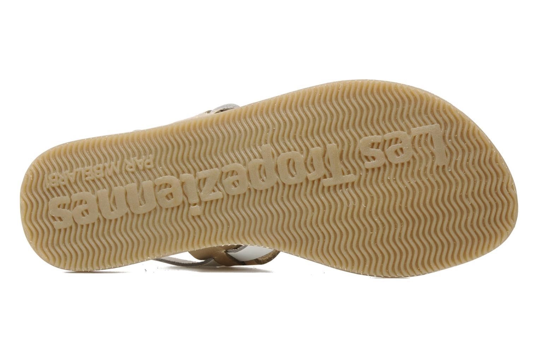 Sandales et nu-pieds Les Tropéziennes par M Belarbi Wallis E Or et bronze vue haut