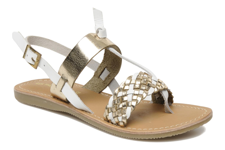 Sandales et nu-pieds Les Tropéziennes par M Belarbi Wallis E Or et bronze vue détail/paire