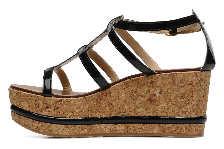 Sandales et nu-pieds Tapeet Tipia Noir vue face