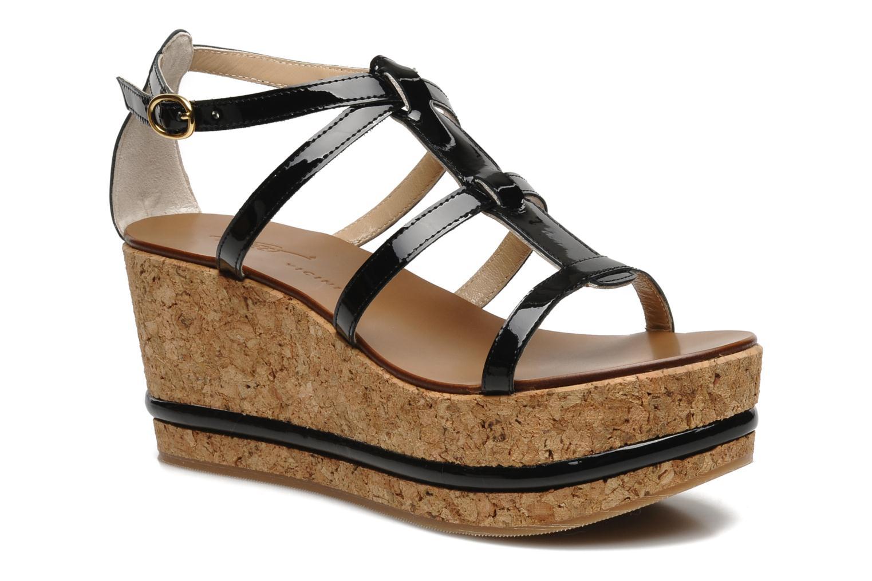 Sandales et nu-pieds Tapeet Tipia Noir vue détail/paire