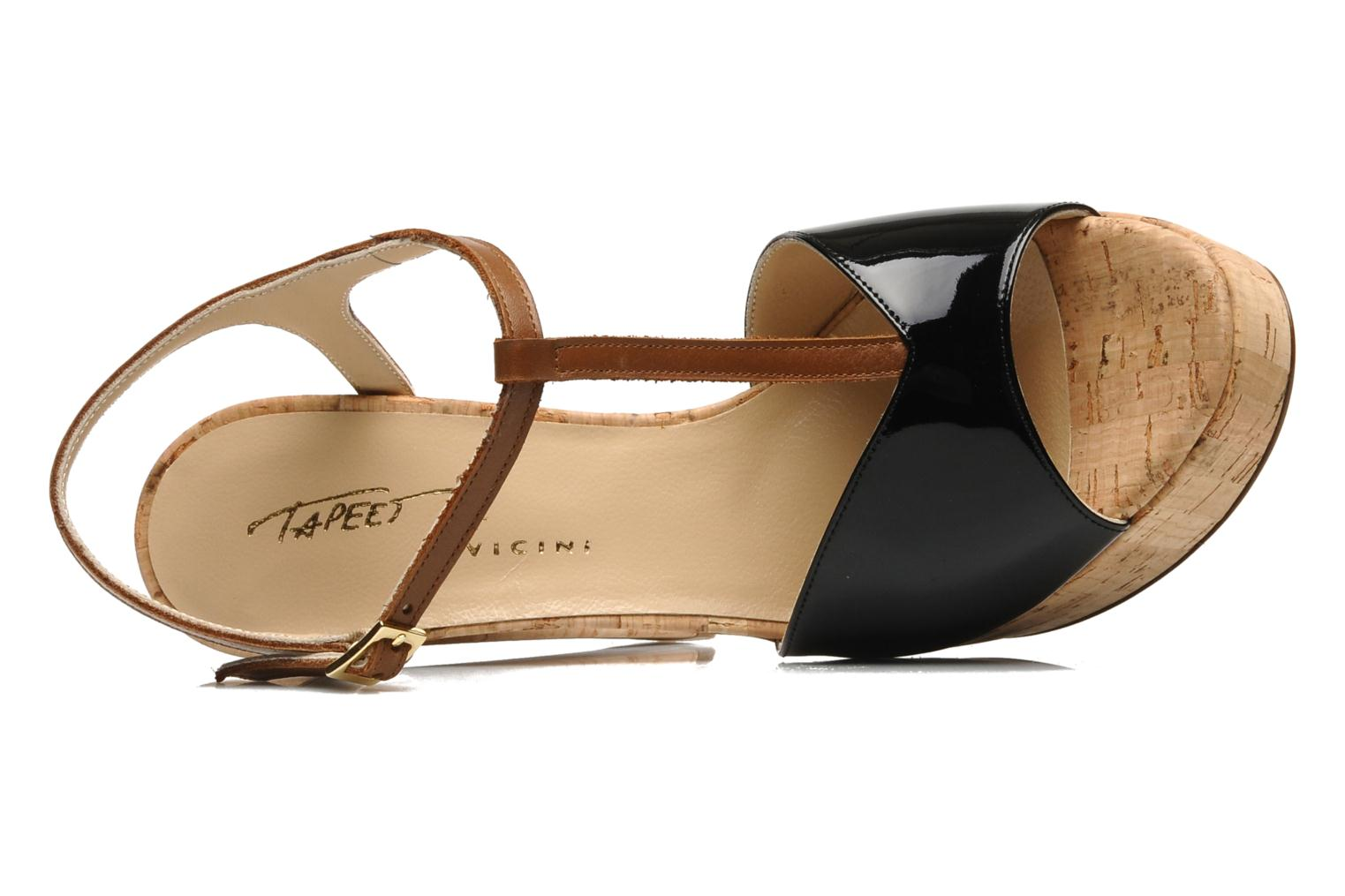 Sandals Tapeet Tomia Black view from the left