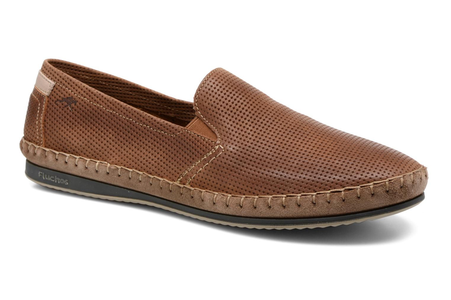 Loafers Fluchos Bahamas 8674 Brown detailed view/ Pair view
