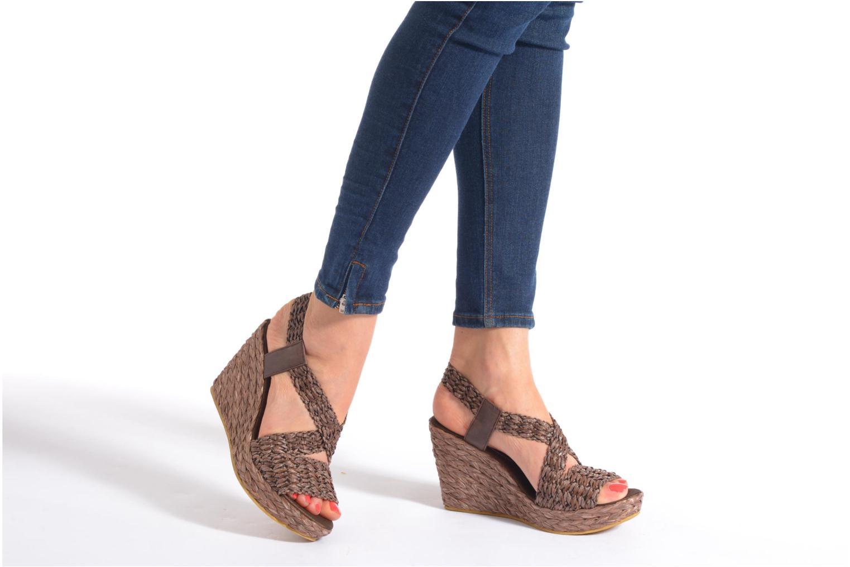 Sandales et nu-pieds Elizabeth Stuart Fuxy 310 Noir vue bas / vue portée sac