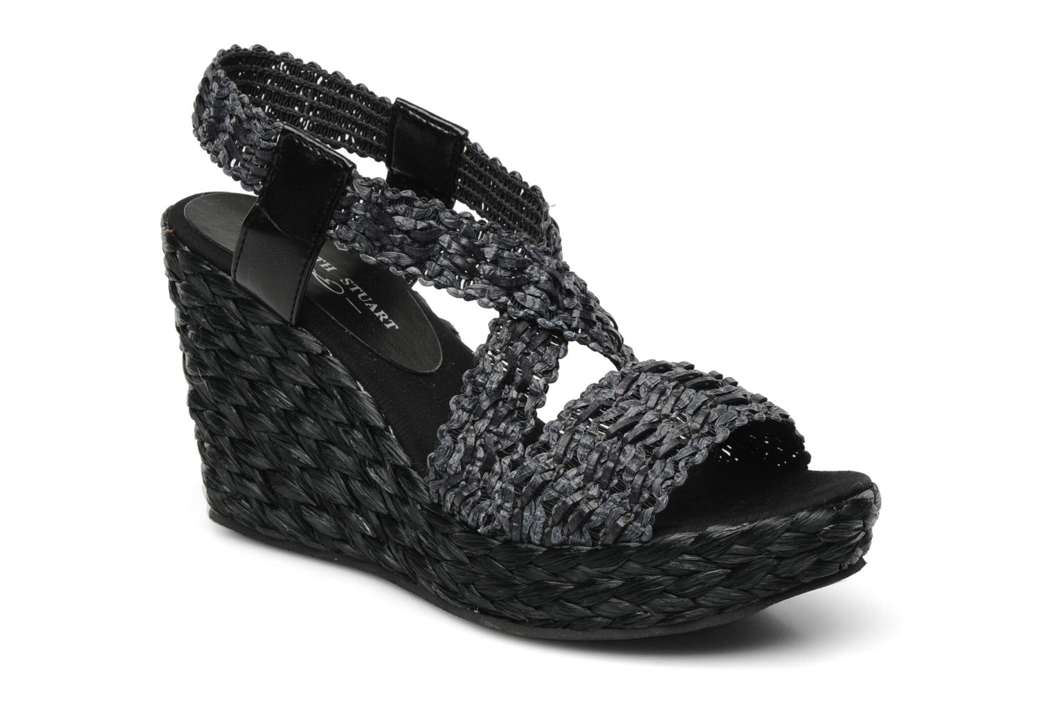 Sandals Elizabeth Stuart Fuxy 310 Black detailed view/ Pair view