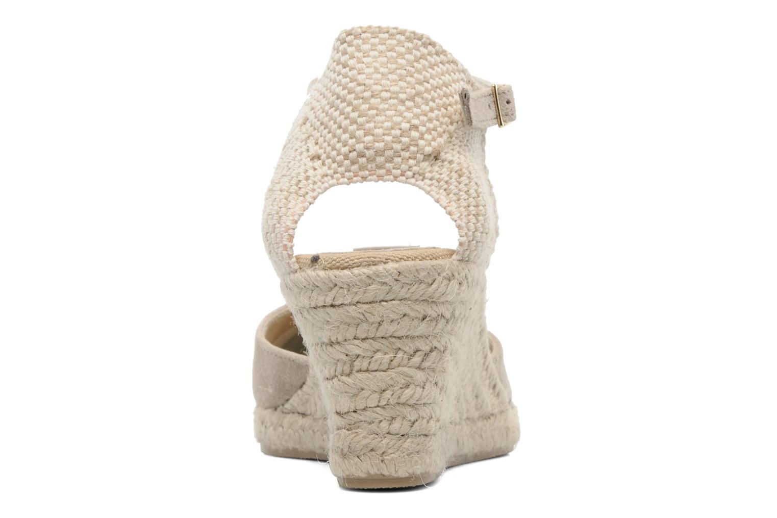 Sandals Elizabeth Stuart Volga 630 Beige view from the right