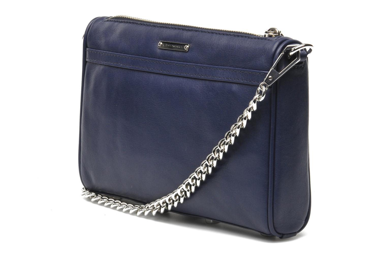 Bolsos de mano Rebecca Minkoff Mini MAC Azul vista lateral derecha