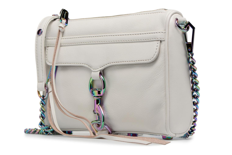 Borse Rebecca Minkoff Mini MAC Bianco modello indossato