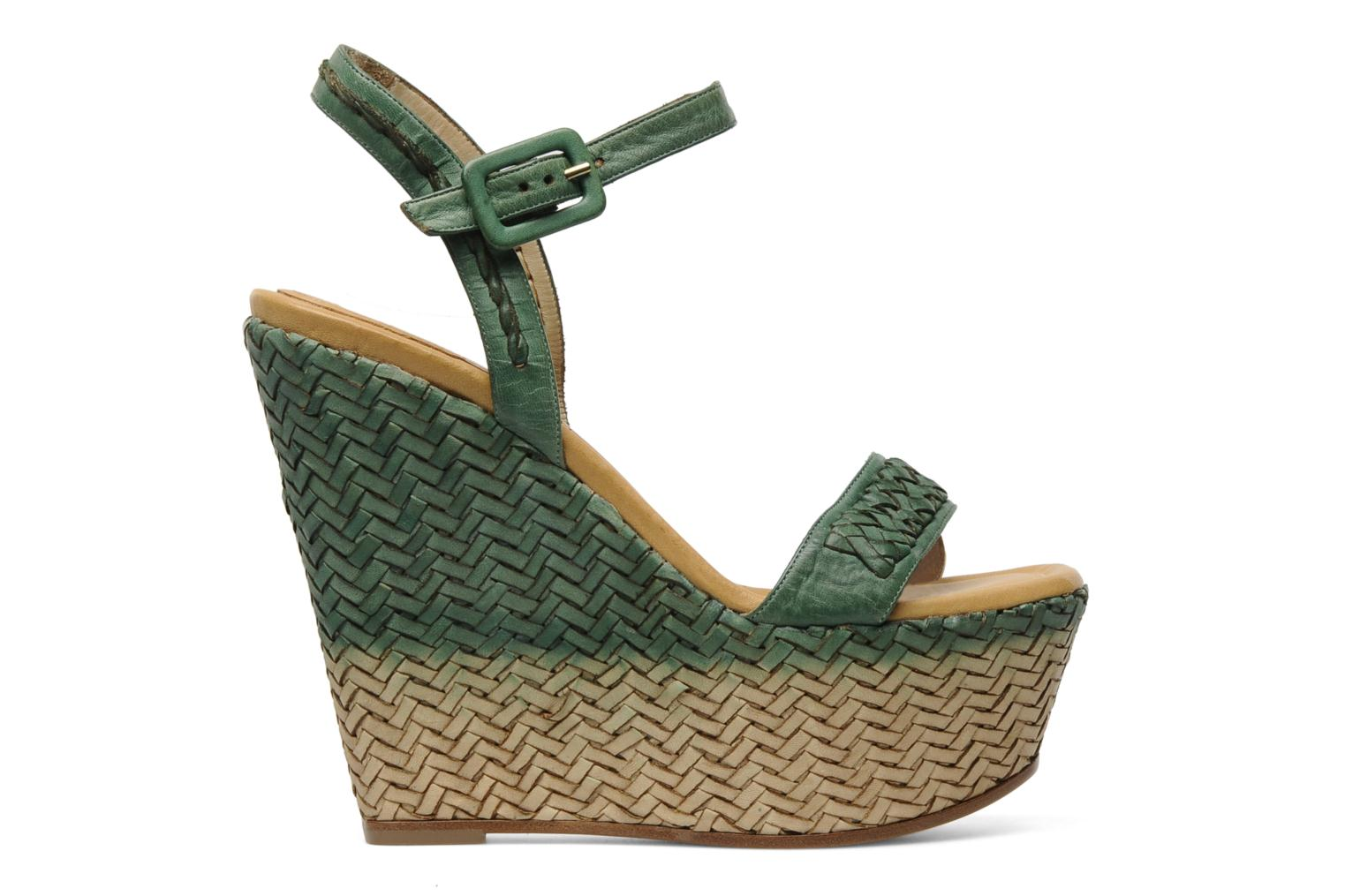 Sandals Eva Turner WAVYNI Green back view