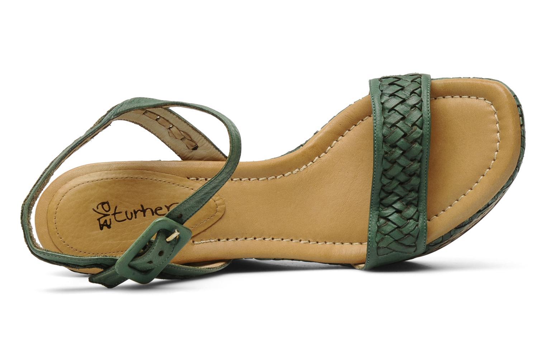 Sandales et nu-pieds Eva Turner WAVYNI Vert vue gauche