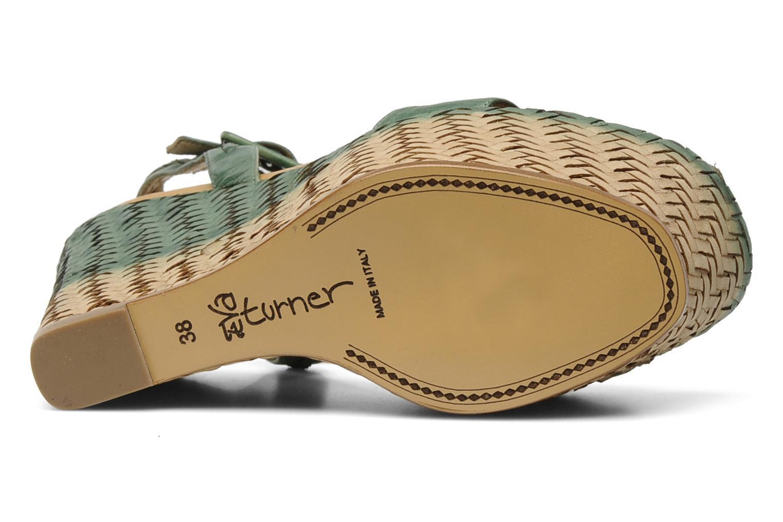Sandales et nu-pieds Eva Turner WAVYNI Vert vue haut