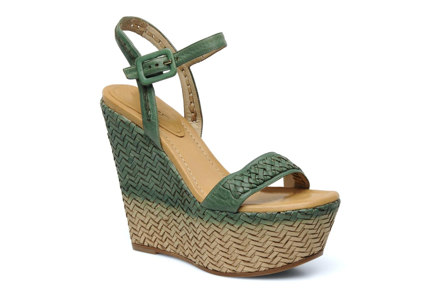 Sandals Eva Turner WAVYNI Green detailed view/ Pair view