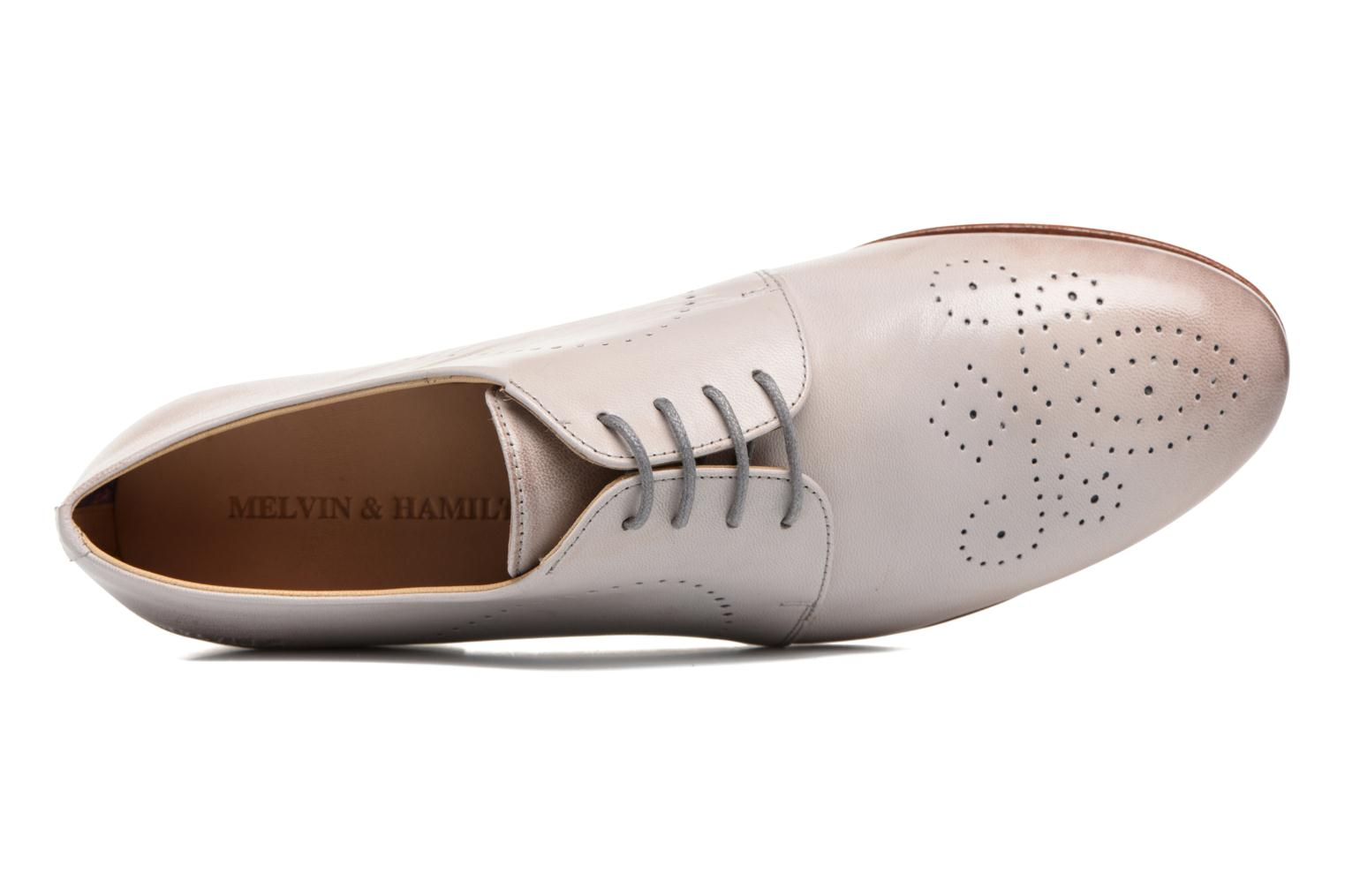 Lace-up shoes Melvin & Hamilton Sally 1 Beige view from the left