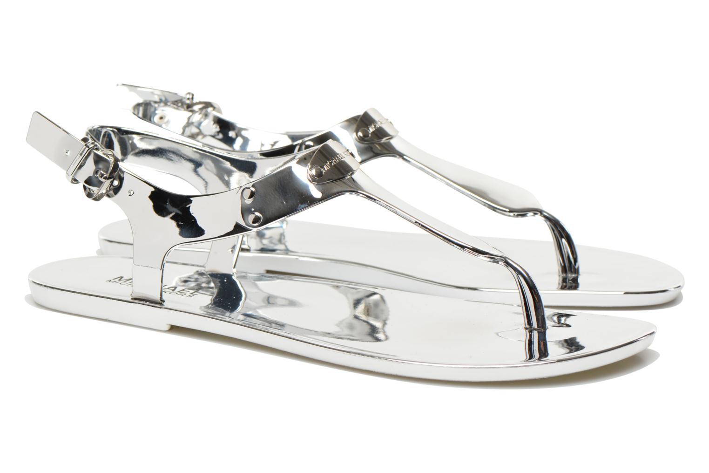Sandaler Michael Michael Kors MK Plate Jelly Sølv 3/4 billede