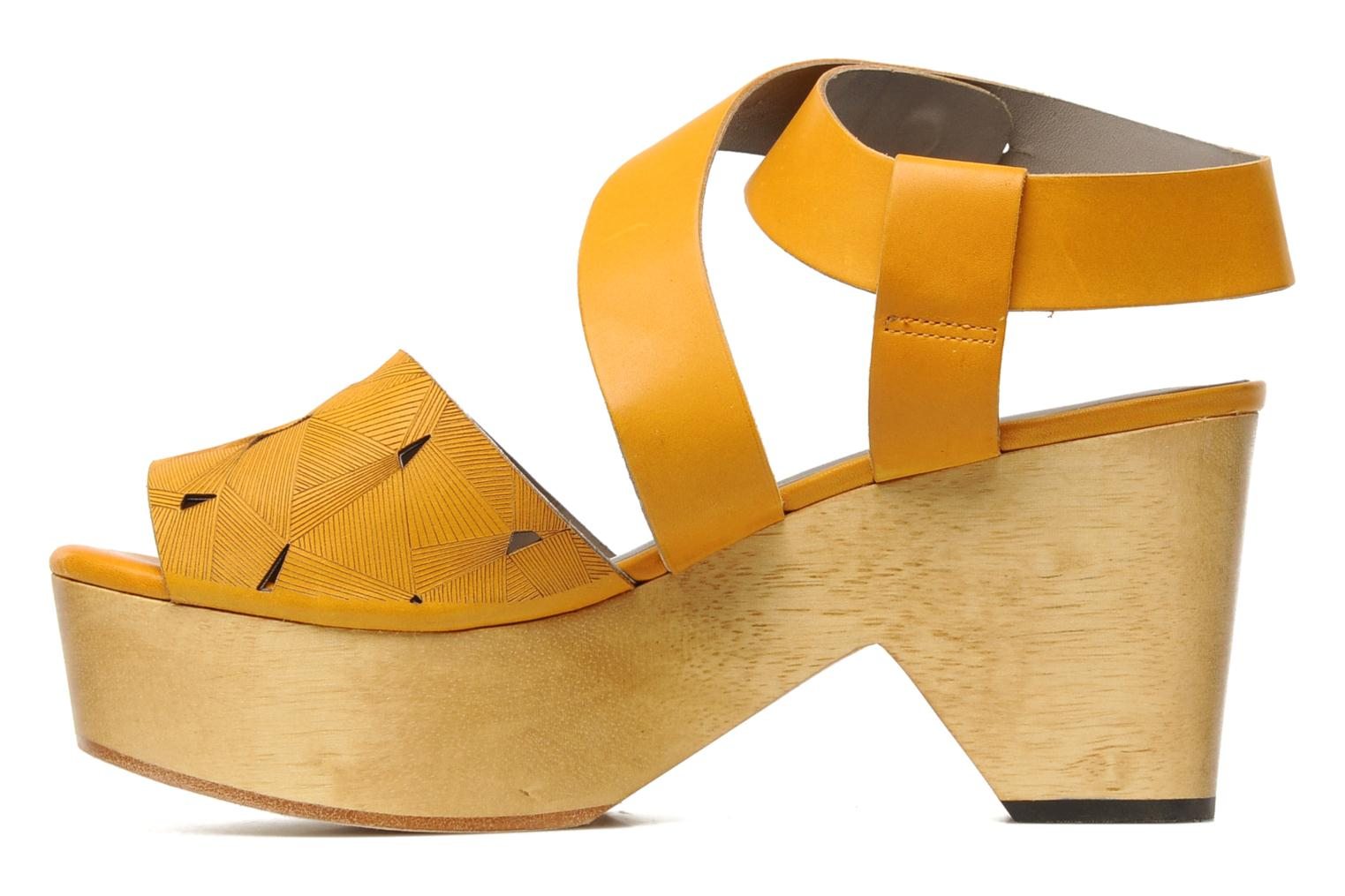 Sandals Skin by Finsk TURINA Yellow front view