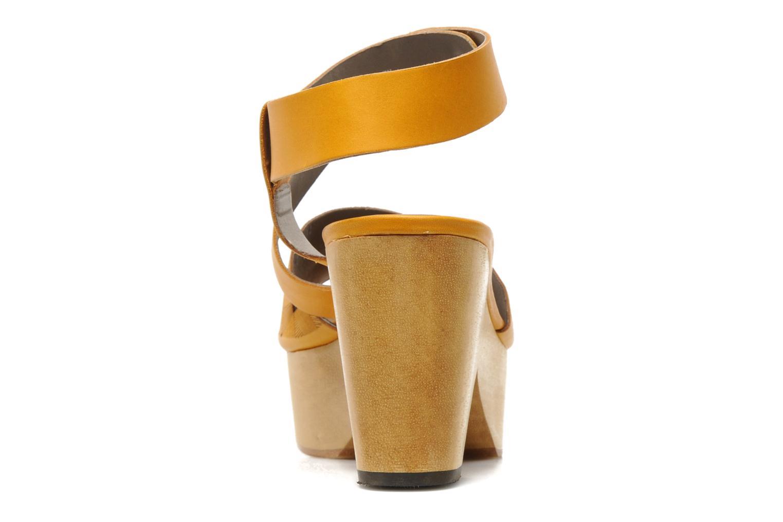 Sandalen Skin by Finsk TURINA Geel rechts