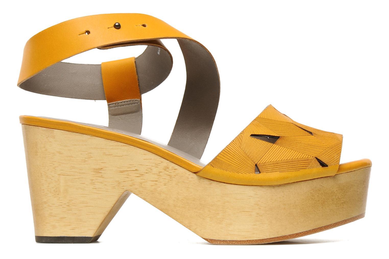 Sandalen Skin by Finsk TURINA Geel achterkant