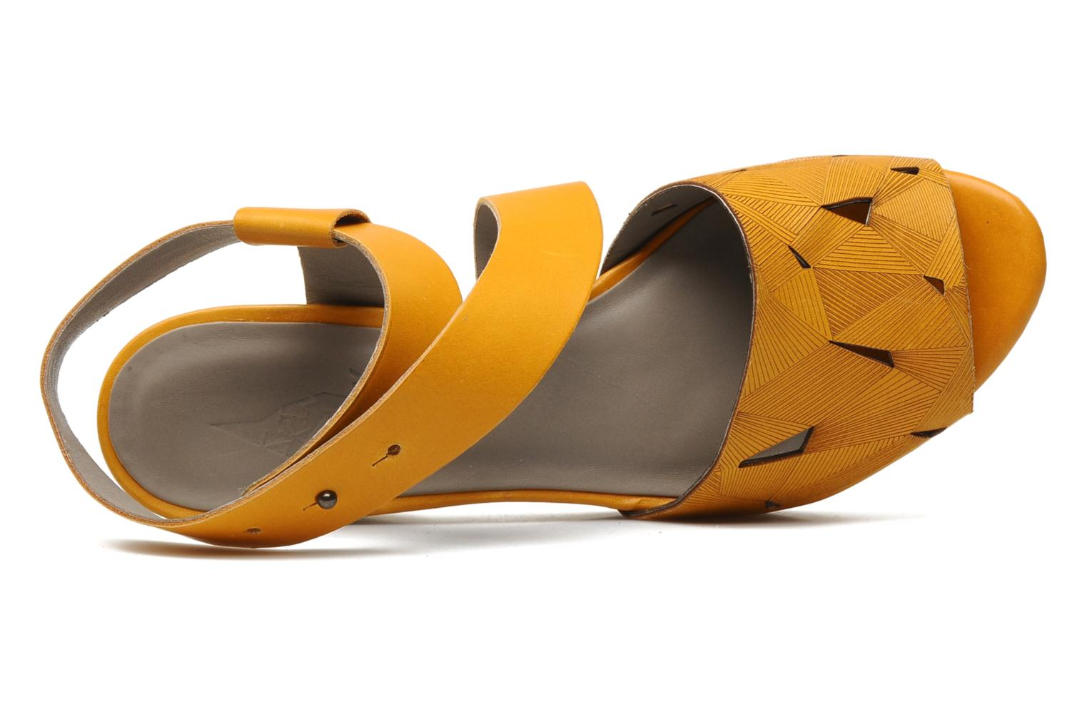 Sandals Skin by Finsk TURINA Yellow view from the left