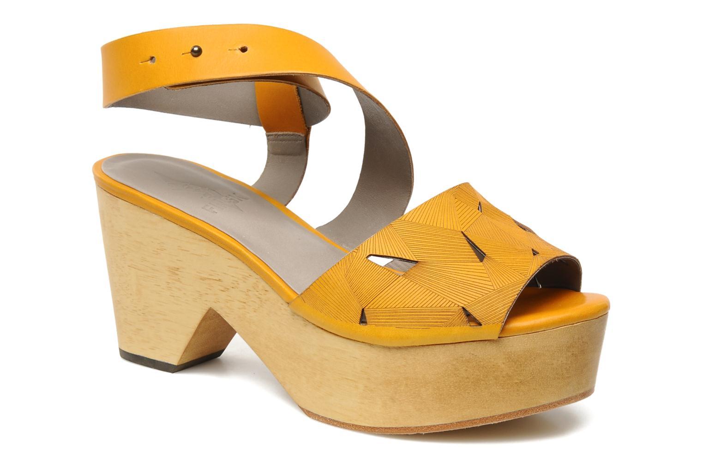 Sandales et nu-pieds Skin by Finsk TURINA Jaune vue détail/paire