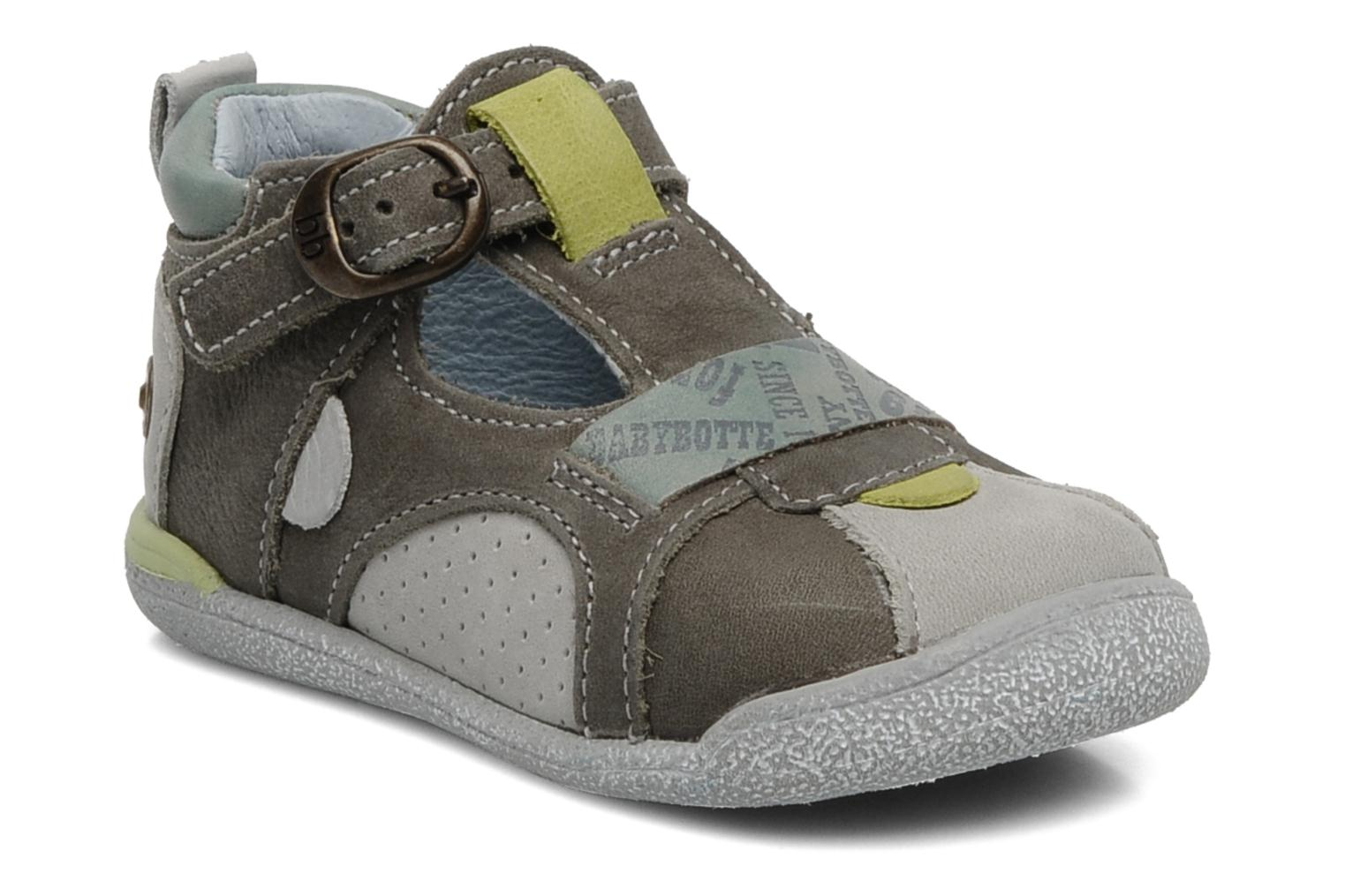 Summer boots Babybotte Pitt Grey detailed view/ Pair view