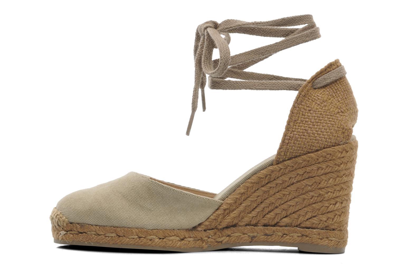 Sandales et nu-pieds Castaner Carina8 Beige vue face