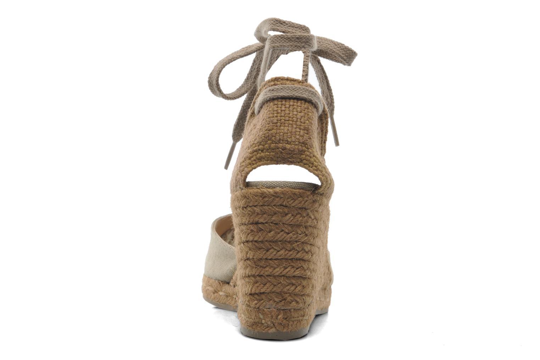 Sandales et nu-pieds Castaner Carina8 Beige vue droite