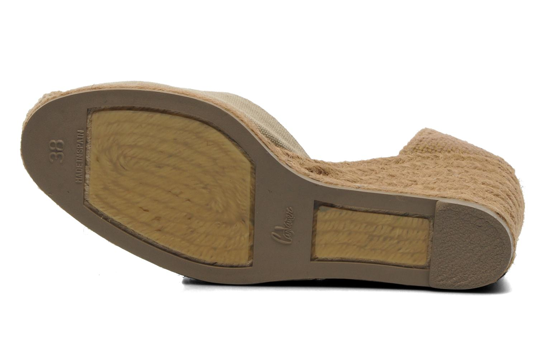 Sandales et nu-pieds Castaner Carina8 Beige vue haut
