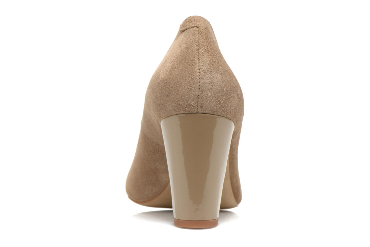 High heels Perlato Paty Beige view from the right