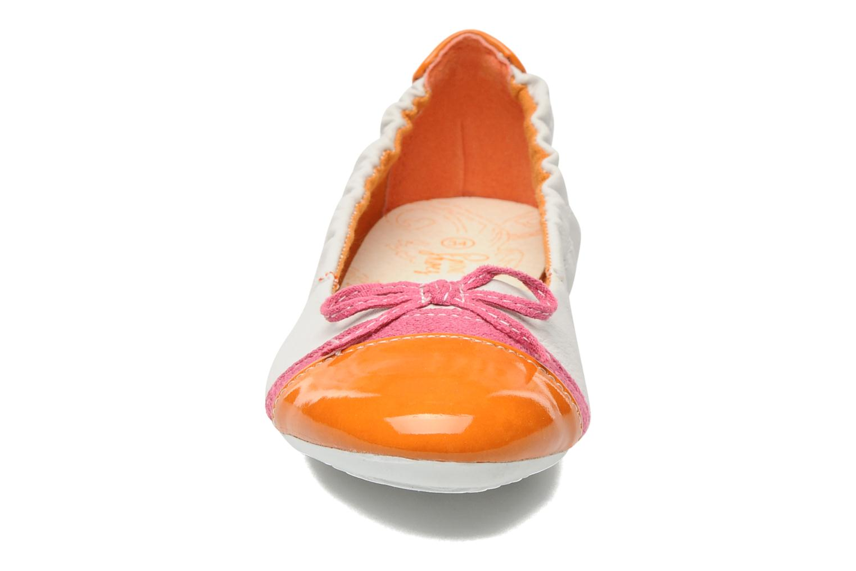 Ballerines I Love Shoes Jannie Blanc vue portées chaussures