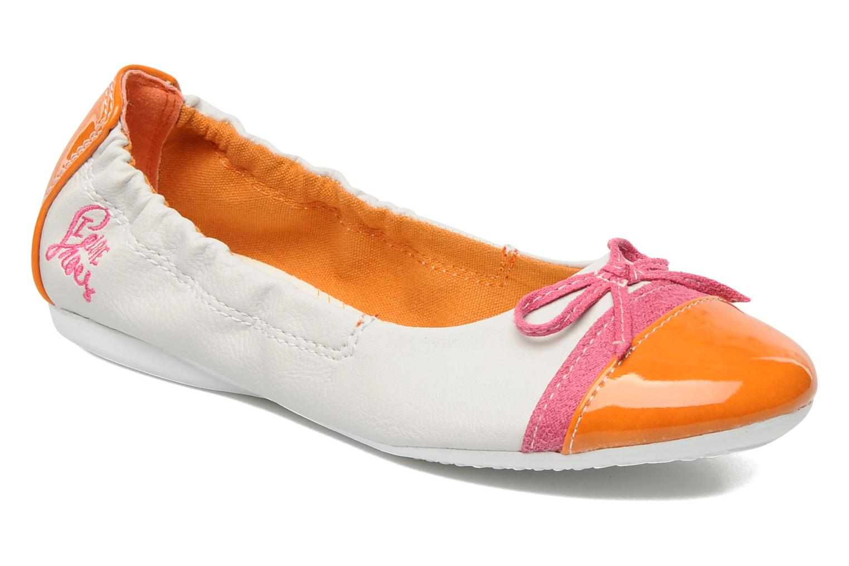 Ballerines I Love Shoes Jannie Blanc vue détail/paire