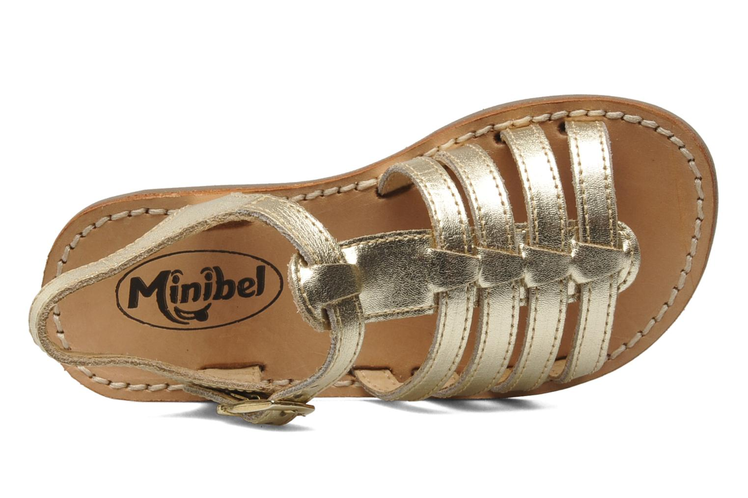 Sandalen Minibel Chana Goud en brons links