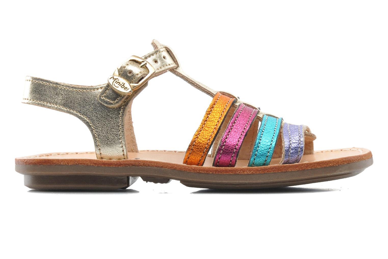 Sandales et nu-pieds Minibel Chana Multicolore vue derrière