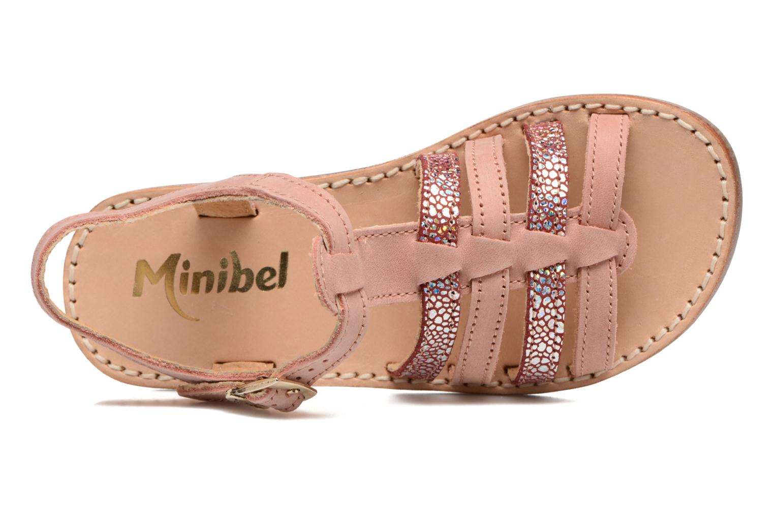 Sandals Minibel Chana Pink view from the left