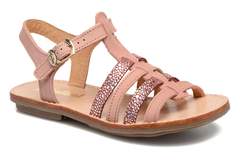 Sandals Minibel Chana Pink detailed view/ Pair view
