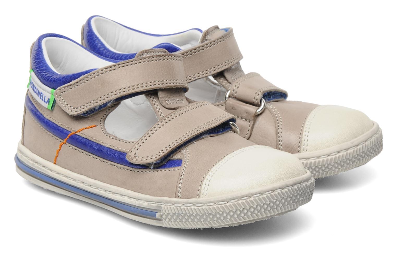 Zapatos con velcro Rondinella Pierrot Gris vista 3/4