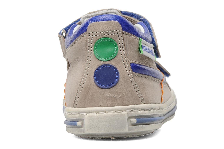 Zapatos con velcro Rondinella Pierrot Gris vista lateral derecha