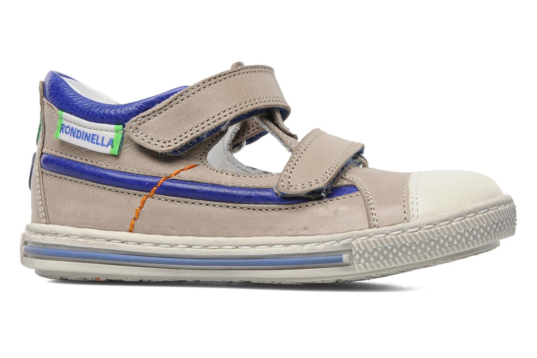 Zapatos con velcro Rondinella Pierrot Gris vistra trasera