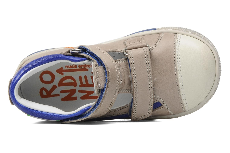 Zapatos con velcro Rondinella Pierrot Gris vista lateral izquierda