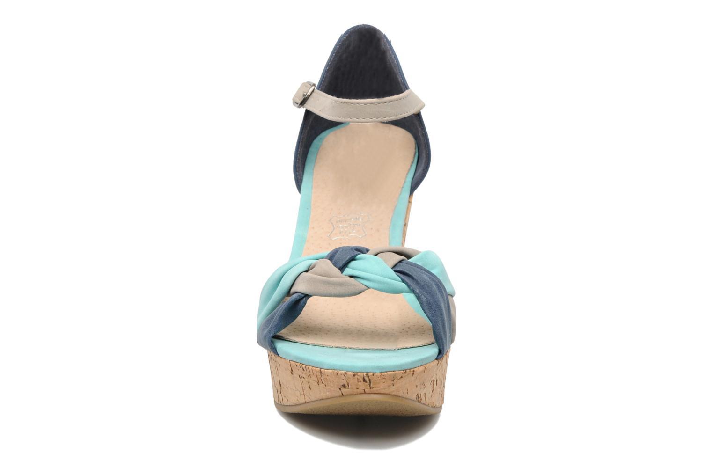 Sandales et nu-pieds Latinas Vilo Bleu vue portées chaussures