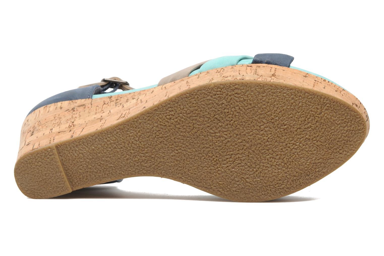 Sandales et nu-pieds Latinas Vilo Bleu vue haut