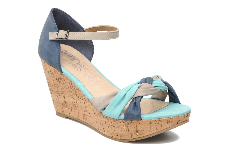 Sandales et nu-pieds Latinas Vilo Bleu vue détail/paire