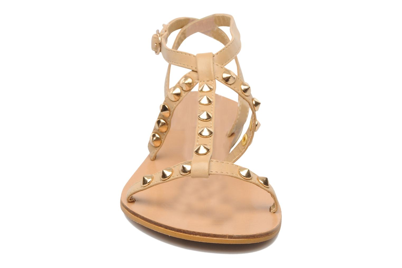 Sandales et nu-pieds Latinas Sheila Beige vue portées chaussures