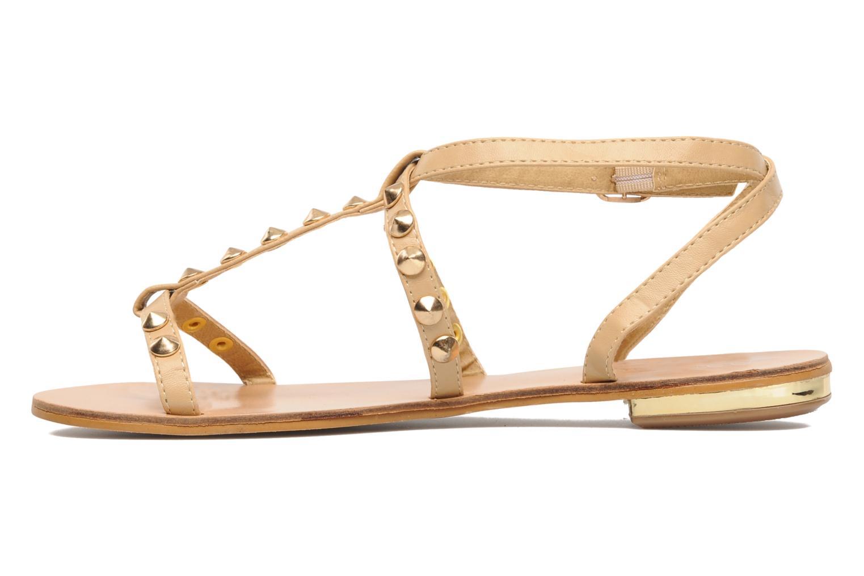 Sandales et nu-pieds Latinas Sheila Beige vue face