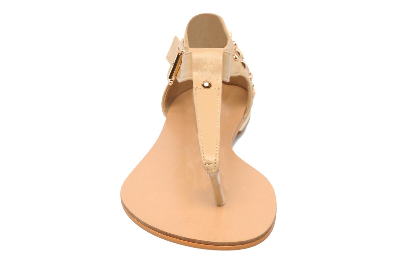 Sandalen Latinas Karen beige schuhe getragen