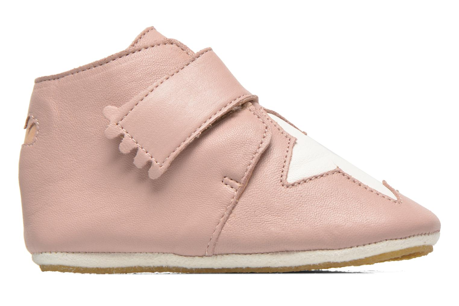 Chaussons Easy Peasy Kiny Patin Etoile Rose vue derrière