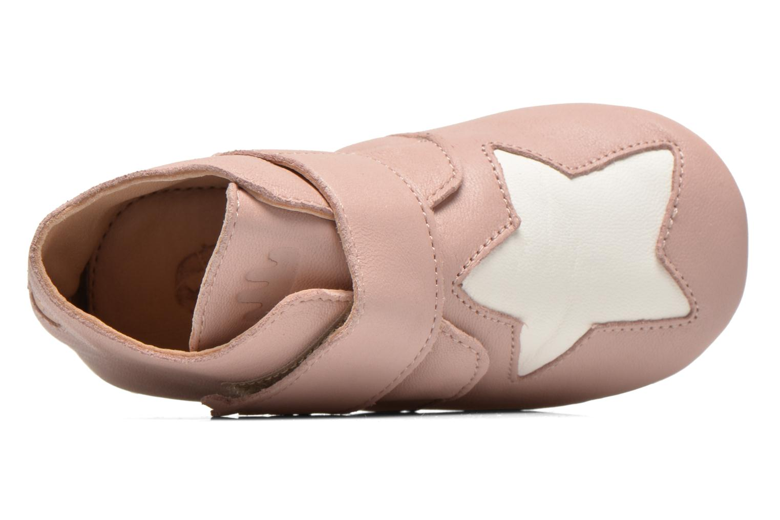 Chaussons Easy Peasy Kiny Patin Etoile Rose vue gauche