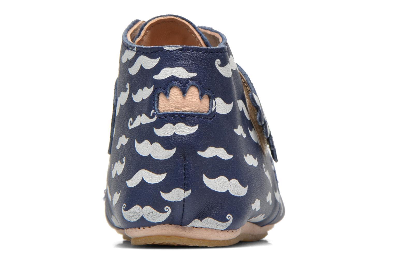 Pantoffels Easy Peasy Kiny Patin Moustache Blauw rechts