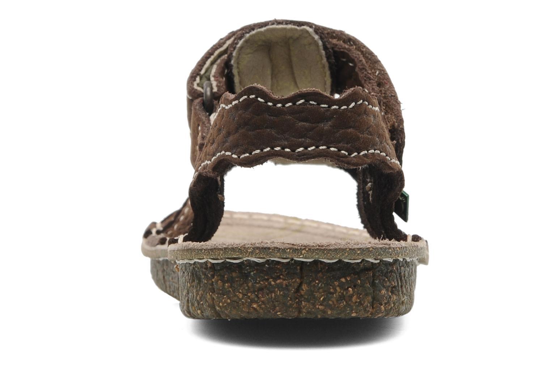 Sandales et nu-pieds El Naturalista Kiri 254 Marron vue droite