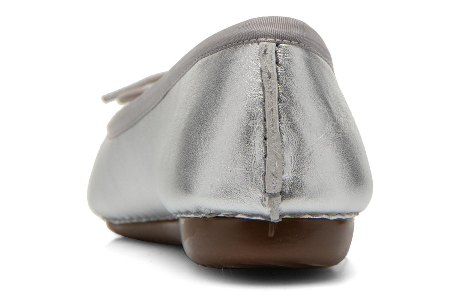 Ballet pumps Clarks Unstructured Freckle Ice Silver view from the right