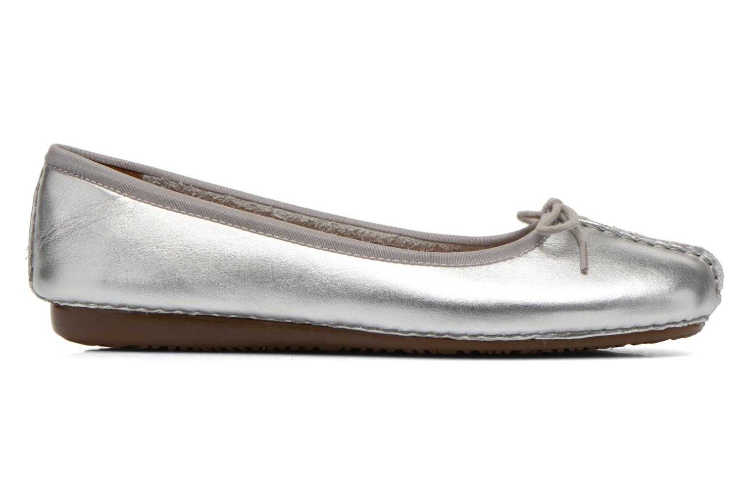 Ballet pumps Clarks Unstructured Freckle Ice Silver back view